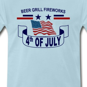 beer_grill_fireworks_happy_4th_july_tshi - Men's Premium T-Shirt