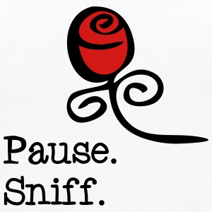 Pause and sniff  Tanks - Women's Premium Tank Top