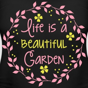 life is a beautiful garden Women's T-Shirts - Women's Maternity T-Shirt