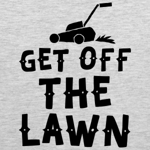 get off the lawn with lawn mower Sportswear - Men's Premium Tank