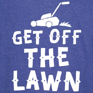 get off the lawn with lawn mower T-Shirts - Vintage Sport T-Shirt
