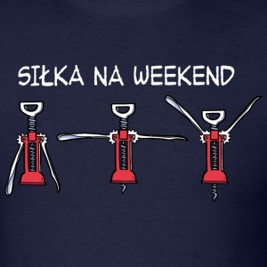 Silka na Weekend (ciemny) T-shirts - T-shirt pour hommes