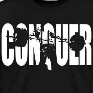 CONQUER (Weightlifting Motivation) T-Shirts - Men's Premium T-Shirt