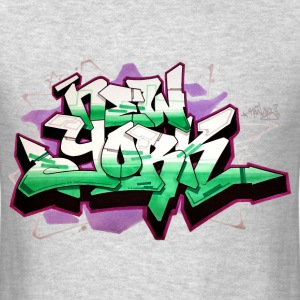 RANGE - Design for New York Graffiti Color Logo -  - Men's T-Shirt