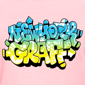 LAWE/SUB53 Design for New York Graffiti Color Logo - Women's T-Shirt