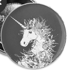 Head of a unicorn Buttons - Large Buttons