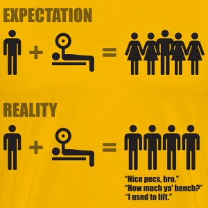 Expectation vs Reality (Gym Meme) T-Shirts - Men's Premium T-Shirt