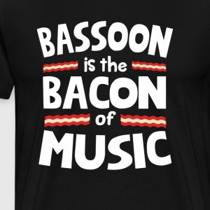 Bassoon The Bacon of Music Funny T-Shirt T-Shirts - Men's Premium T-Shirt