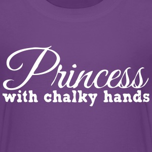 Princess with chalky hands Kids' Shirts - Kids' Premium T-Shirt