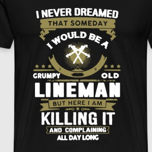 Grumpy Old Lineman - Men's Premium T-Shirt