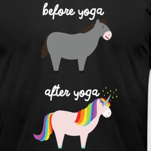 Before Yoga / After Yoga T-Shirts - Men's T-Shirt by American Apparel