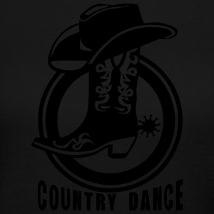 cowboys country dance boot logo hat 3 Long Sleeve Shirts - Women's Long Sleeve Jersey T-Shirt