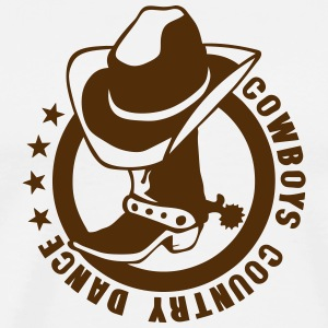 cowboys country dance boot logo hat T-Shirts - Men's Premium T-Shirt