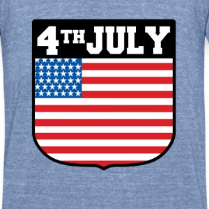 4TH JULY.AMERICA,INDEPENDENT DAY - Unisex Tri-Blend T-Shirt by American Apparel