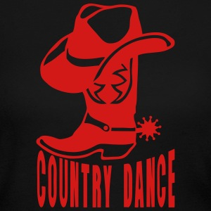 cowboys country dance boot logo hat 2 Long Sleeve Shirts - Women's Long Sleeve Jersey T-Shirt