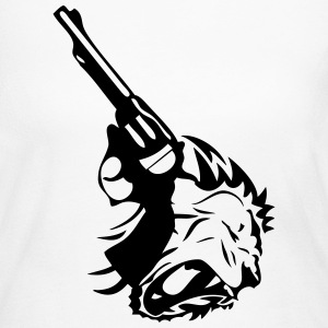 revolver pistol gun weapon lion 4 Long Sleeve Shirts - Women's Long Sleeve Jersey T-Shirt
