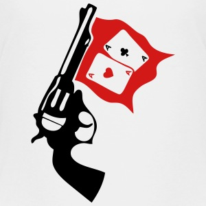 gun weapon revolver bang poker ace Kids' Shirts - Kids' Premium T-Shirt