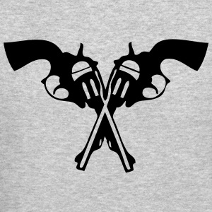 gun pistol revolver weapon crusader 1 Long Sleeve Shirts - Crewneck Sweatshirt