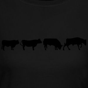 animated bull Long Sleeve Shirts - Women's Long Sleeve Jersey T-Shirt