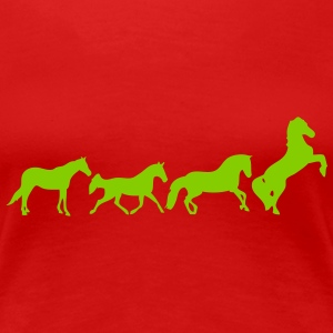 animated horse 2 T-Shirts - Women's Premium T-Shirt