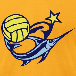 water polo volleyball club logo swordfis T-Shirts - Men's T-Shirt by American Apparel