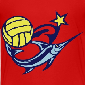 water polo volleyball club logo swordfis Kids' Shirts - Kids' Premium T-Shirt