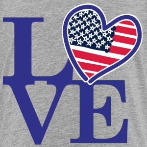 Love with an American Flag Heart - Toddler Premium T-Shirt