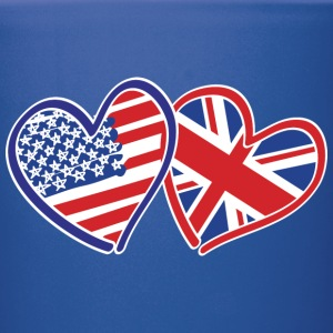 USA and UK Patriotic Flag Hearts - Full Color Mug