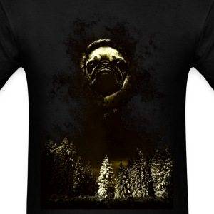 DOG FACE IN DEEP FOREST - Men's T-Shirt