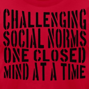 Challenging Social Norms! T-Shirts - Men's T-Shirt by American Apparel