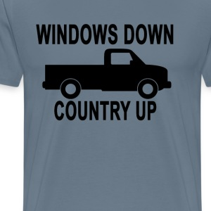 windows_down_country_up_ - Men's Premium T-Shirt
