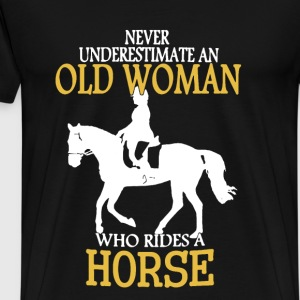 Horse Old Woman Shirt - Men's Premium T-Shirt