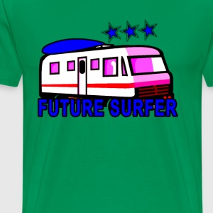 blue_beach_wagon_future_surfer - Men's Premium T-Shirt