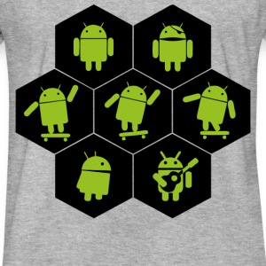 what is android doing - Fitted Cotton/Poly T-Shirt by Next Level