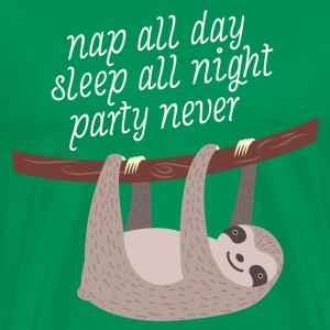 Nap All Day - Sleep All Night - Party Never T-Shirts - Men's Premium T-Shirt