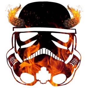 Devil Trooper / fire horns helmet