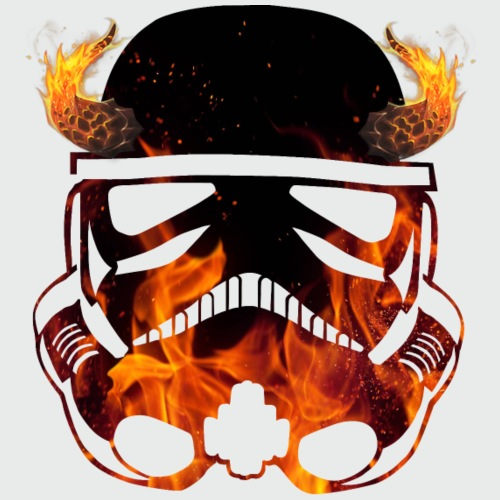 Devil Trooper / fire horns helmet