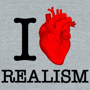 I Heart Realism T-Shirts - Unisex Tri-Blend T-Shirt by American Apparel
