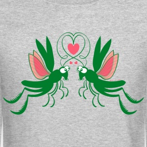 Enthusiastic grasshoppers madly falling in love Long Sleeve Shirts - Crewneck Sweatshirt