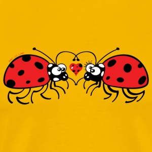 Adorable ladybugs sweetly falling in love T-Shirts - Men's Premium T-Shirt