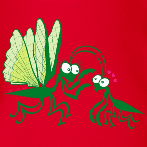 Praying mantises dangerously falling in love