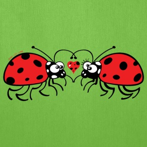 Adorable ladybugs sweetly falling in love Bags & backpacks - Tote Bag