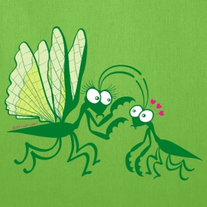 Praying mantises dangerously falling in love Bags & backpacks - Tote Bag