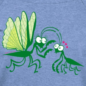 Praying mantises dangerously falling in love Long Sleeve Shirts - Women's Wideneck Sweatshirt