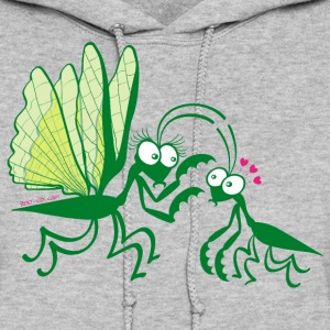 Praying mantises dangerously falling in love Hoodies - Women's Hoodie