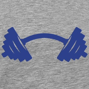 dumbbell bent crooked 8 T-Shirts - Men's Premium T-Shirt