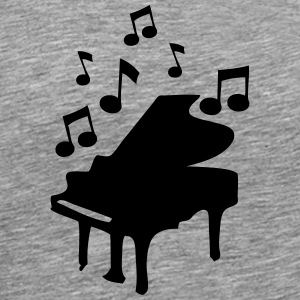klavier piano bar piano music note T-Shirts - Men's Premium T-Shirt