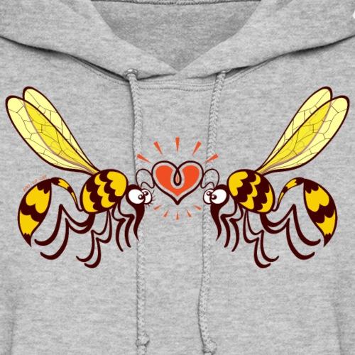 Beautiful wasps irremediably falling in love