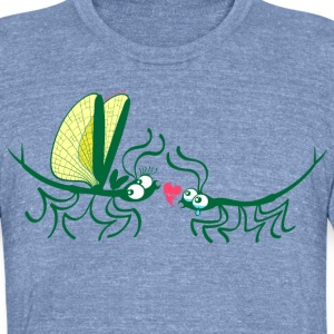 Stick insects painfully breaking their love T-Shirts - Unisex Tri-Blend T-Shirt by American Apparel