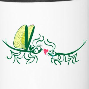 Stick insects painfully breaking their love Mugs & Drinkware - Travel Mug